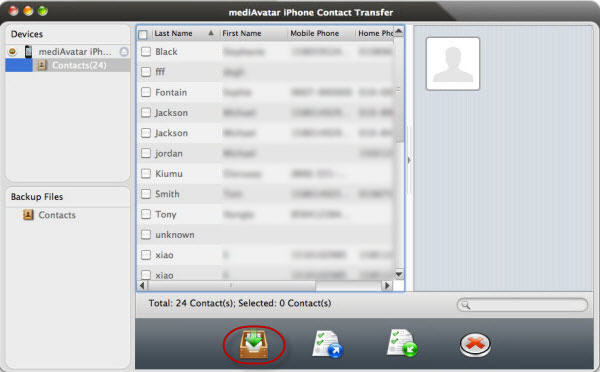 backup iPhone contacts to csv on Mac