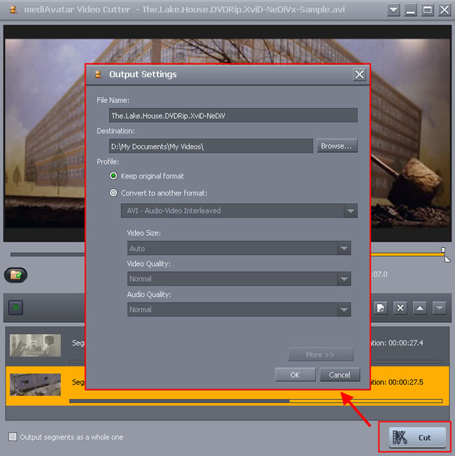 how to cut a avi video to mp4